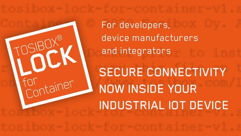 Sicurezza dati ai massimi livelli con la nuova soluzione<br> TOSIBOX®  Lock for Container