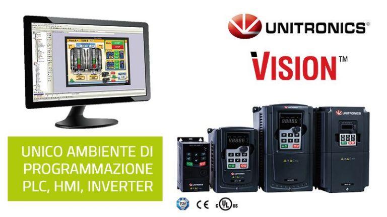 Unitronics ha rilasciato la nuova versione software di VisiLogic per i suoi inverter