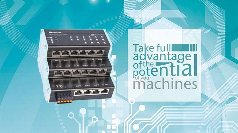 FLEXtra, il nuovo switch PROFINET 16-Porte, managed, 10/100/1000Mbps<br>Sfrutta tutto il potenziale delle tue macchine